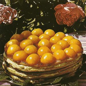 schlemmereckchen gef llte melone mit obst und knusprige aprikosentorte. Black Bedroom Furniture Sets. Home Design Ideas