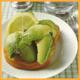 Avocado Toast, Avocado Salat  und Avocado mit Vinaigrette-Soße