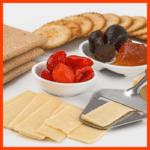 Cracker mit Buchweizen und Käse-Cracker Snacks