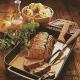 Gefüllter Filetbraten und Filetbraten mit frischen Gemüse