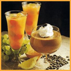 Gelee im Glas und Apfelsinengelee mit frischen Bananen