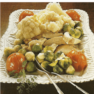 Käse-Omelett für zwei, Quark -Hackfleischrolle und Gemüseplatte feine Art