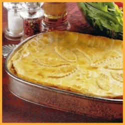 Hähnchen-Pastete und Schinken-Käse-Täschchen