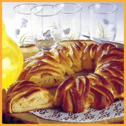 Hefe Orangenkranz und Geflochtener Hefekuchen 1