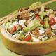 Grilllachs Salat mit Eiern und Luxustoast und Festkotelett