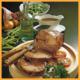Westfälische Lammkeule und Lamm Steaks mit Früchten