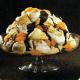Mandarinen-Baiser- Pyramide und Birnen mit Baiserhaube