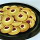 Marmeladenplätzchen und Eierplätzchen