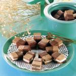 Nougat-Pfefferminz-Ecken und Schokoladenherzen