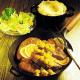 Frische Orangen-Leber und zarte Käse -Kalbsmedaillons