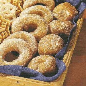 Madeleines nach Tante Gretas Art und Pfannkuchen, Ringe und Sterne