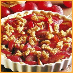 Pflaumen-Streusel-Tarte und Apfel-Mandel-Pie