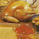 Poularde mit glasierten Kastanien und Weintrauben-Poularde