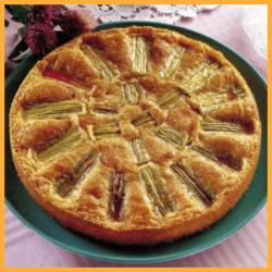 Rhabarberkuchen und Honig-Mandel-Schnitten 1