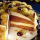 Sandkuchen Trauben Torte mit gerösteten Mandeln