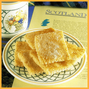 Schottische Vanilleecken und Käsebrötchen 1