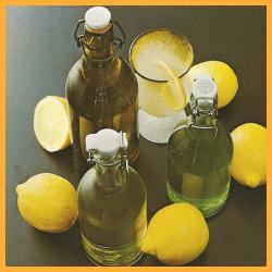 Zitronengetränk und Vortisch- Drinks und andere Getränke