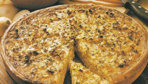 Sandwichtorte und Italienischer Zwiebel- Käse-Kuchen
