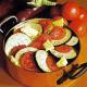 Backofen-Auberginen und Überbacken Lauch und gefüllte Artischocken