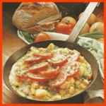 Tomaten-Bauernfrühstück und Gratinierte Champignontomaten