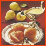 Marzipanbirnen, Sahne Eis mit Likör Erdbeeren und Sahnetüten