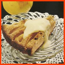 Apfelkuchen und Mandelbirnen oder Mandeläpfel