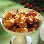 Gebackene Kirschen goldbraun fritiert