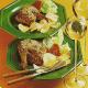 Gegrilltes Hähnchen mit Käse und Pfirsich-Hähnchen mit Mandeln·