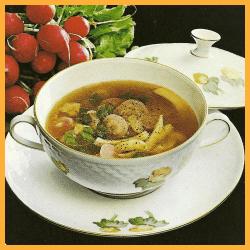 Radieschen Suppe und frische Rote - Bete- Suppe