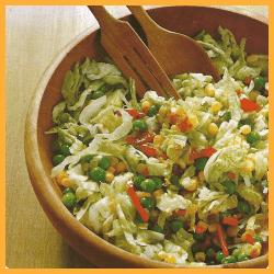 Salat für Linienbewußte und Kasseler mit WeißkohIsalat