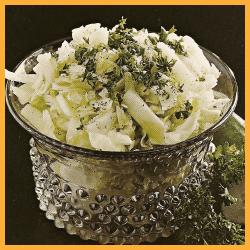 Salat aus Sommerkohl und Badischer Fleischsalat mit Spargel