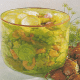 Westküstensalat aus Schalentieren und Melonensalat mit Hühnerbrust