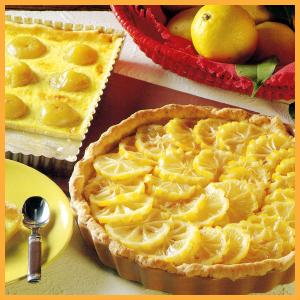Französische Zitronentarte, Feigentarte und Früchtekissen